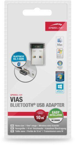 Speedlink (B-WARE) Vias Bluetooth Adapter (universeller BT-Dongle für MAC und Windows), transparent-schwarz