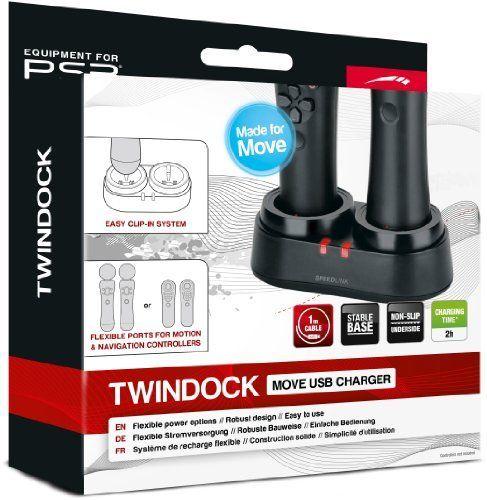 Speedlink Twindock Ladestation für Playstation 3/PS3 (zwei Ports für zwei Move-Controller/Bewegungscontroller) NEU