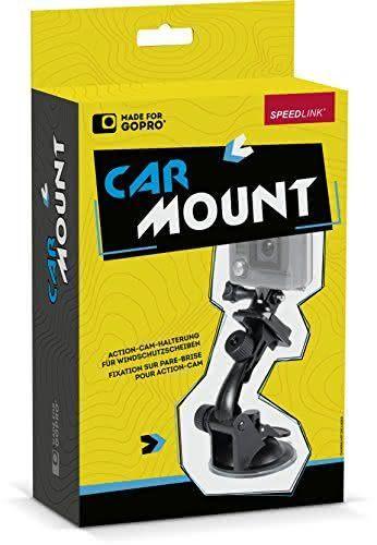Speedlink (B-WARE) Action-Cam-Halterung - Car Mount for GoPro (Schnellspann-Verschluss zur direkten Kamera-Fixierung - zwei Gelenke für optimale Ausrichtung - Starker Saugnapf für extrem festen Halt) für Windschutzscheiben schwarz 09-09-5.94501
