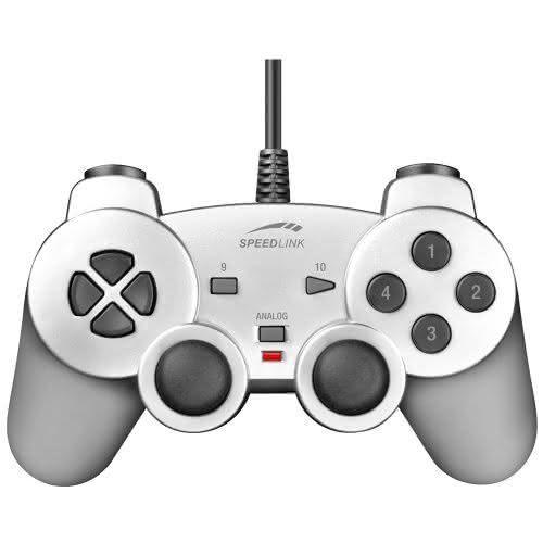 Speedlink (B-WARE) Strike Gamepad für den Computer (Vibrationsfunktion, PC-Controller mit USB) silber
