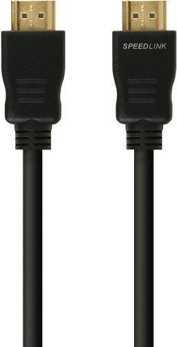 Speedlink (B-WARE) HDMI Kabel für XBOX 360 - HD-X High Speed HDMI Cable (für alle HDMI-Anschlüsse - unterstützt HD-Auflösungen von 1080i und 1080p - goldbeschichtete Kontakte für verlustfreie Bildübertragung) 1,5m Kabellänge schwarz