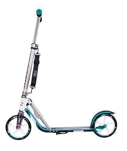 HUDORA Big Wheel Scooter 205 - Das Original, Tret-Roller klappbar - City-Scooter - 14751, türkis