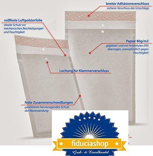 100 x Luftpolstertaschen Luftpolsterversandtaschen Versandtaschen Umschläge Weiss - Gr. F / 6 [ 240 x 350 mm] Top Qualität Stück preis 0,14