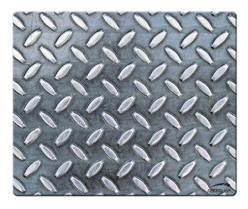 Speedlink (B-WARE) Crome Mauspad stylishes Metallmuster (weiche Oberfläche, geringer Gleitwiderstand, gummierte Unterseite, verschiedene Motive)