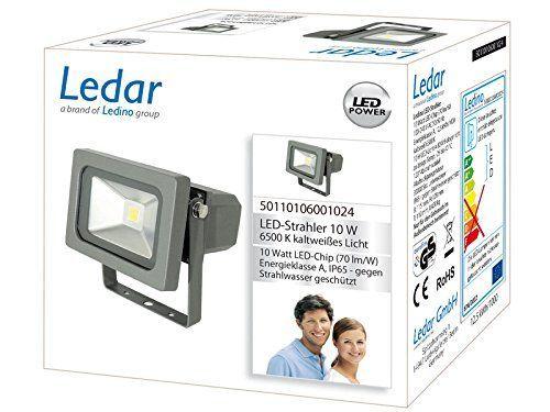 Ledar LED Außenleuchte Ledar LED-Flutlichtstrahler10W   LEDs fest verbaut 10W 700lm tageslichtweiß   50110106001024