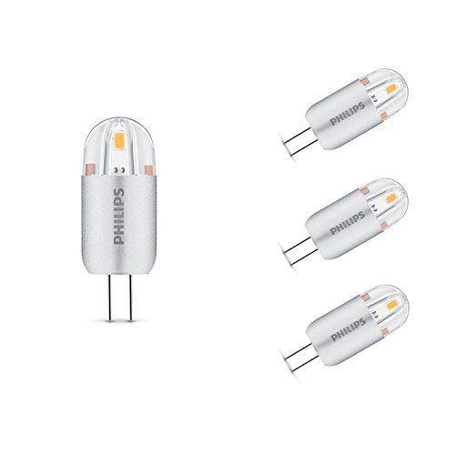 Philips 8718696422304 GU4 1,2 W LED 3000 K Kapsel nicht dimmbar Leuchtmittel, weiß, glas, weiß, G4, 1.2 wattsW