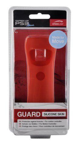 Speedlink (B-WARE)  Guard Silikon Schutzhülle für den Playstation 3/PS3 Move Motion und Navigation Controller, rot