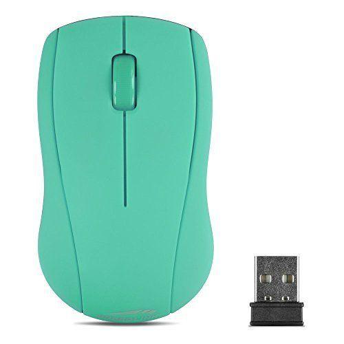 Speedlink (B-WARE) kabellose 3-Tasten-Maus - SNAPPY Mouse wireless USB (präziser optischer Sensor mit 1.000dpi - bis zu 8m Reichweite - Gummierte Oberfläche für sicheren Halt) Laptop / Tablet / PC / Computer wireless Mouse türkis