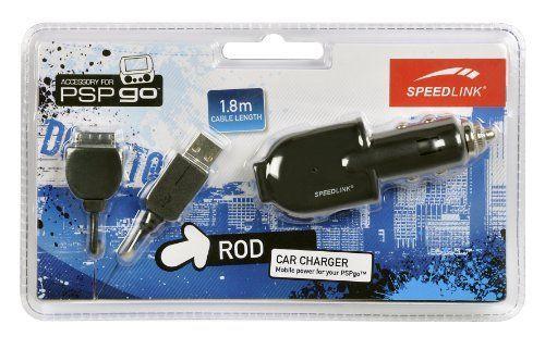Speedlink (B-WARE) Rod KFZ-Ladegerät/Stromadapter für die PSP Go (USB Kabel auf Sony-Anschluss/Autoanschluss)