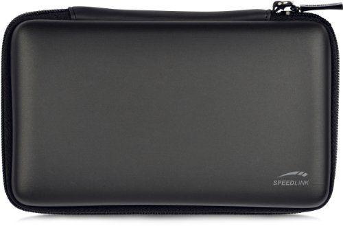 Speedlink Caddy Tasche zur Aufbewahrung für N3DS XL/NDSi XL (Hartschale mit Innenfächern und Reißverschluss)