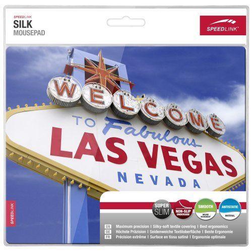 Speedlink (B-WARE) Silk Mauspad Las Vegas (weiche Oberfläche, geringer Gleitwiderstand, gummierte Unterseite, verschiedene Motive)