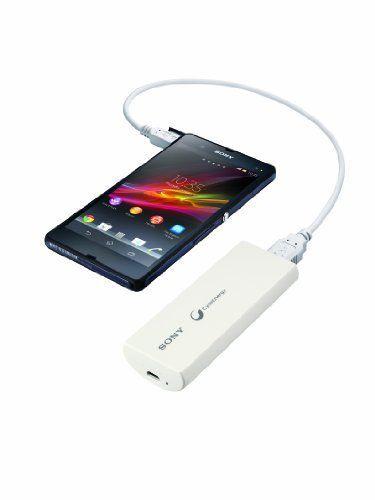 Sony 3000mAh Compact bewegliche Energien-Bank -Ladegerät - ladenen Lithium -Serie CP- V3A ( 1,5A Output) für alle USB -Ladeeinrichtungen - Weiß