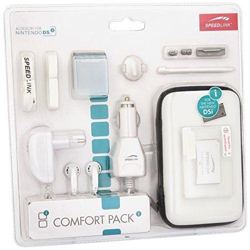Speedlink (B-WARE)  Zubehör für Nintendo Handheld (Tasche/Kopfhörer/Ladekabel Steckdose und KFZ/Touchpen/Spielhülle/Mikrofasertuch/Trageriemen) weiß