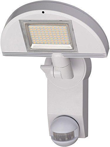 Brennenstuhl LED-Strahler Premium City / LED-Leuchte für außen und innen mit Bewegungsmelder (IP44, drehbar, 40 W, 3000 K) Farbe: Weiß