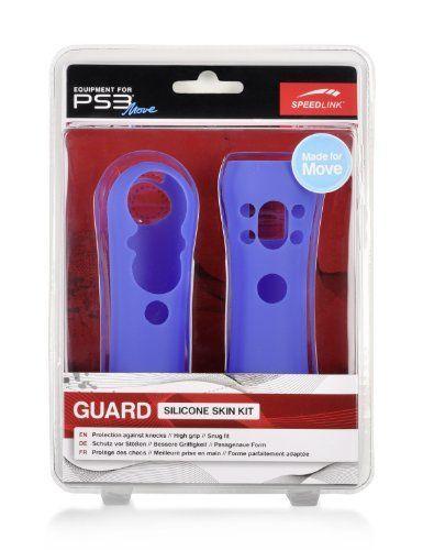 Speedlink (B-WARE)  Guard Silikon Schutzhülle für den Playstation 3/PS3 Move Motion und Navigation Controller, blau