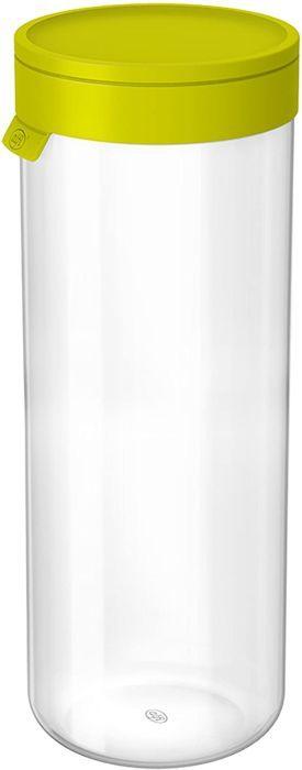 alfi 2465.278.200 Vorratsglas mit Deckel, Borosilikat-Glas L Apfelgrün 2,0 l, Spülmaschinenfest