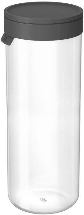 alfi 2465.218.200 Vorratsglas mit Deckel, Borosilikat-Glas L Space Grau 2,0 l, Spülmaschinenfest