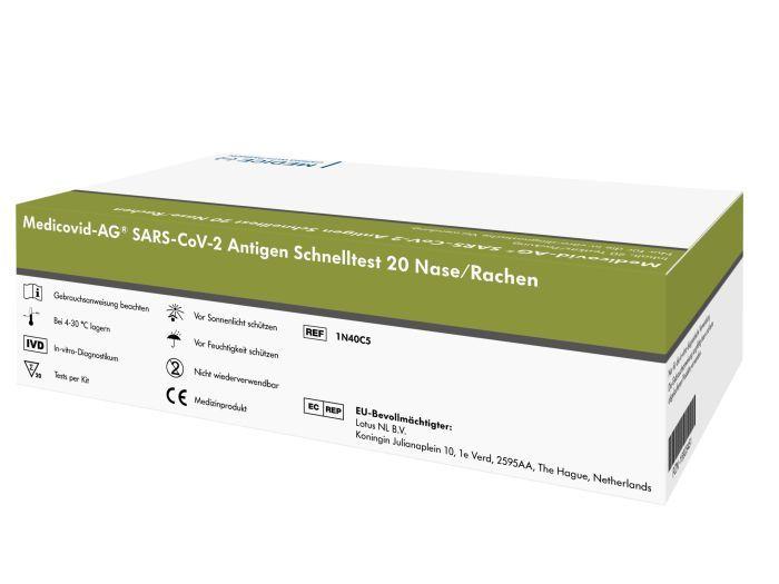 Medicovid-AG® SARS-CoV-2 Antigen Schnelltest 20er für medizinisches Fachpersonal