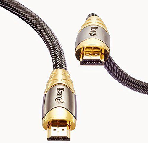 HDMI Kabel 2.0 / 1.4a (Neuster Standard) Ultra HD 4K@60Hz 3D PS4 Full HD 1080p 2160p ARC Highspeed mit Ethernet - 5M IBRA LUXURY GOLD