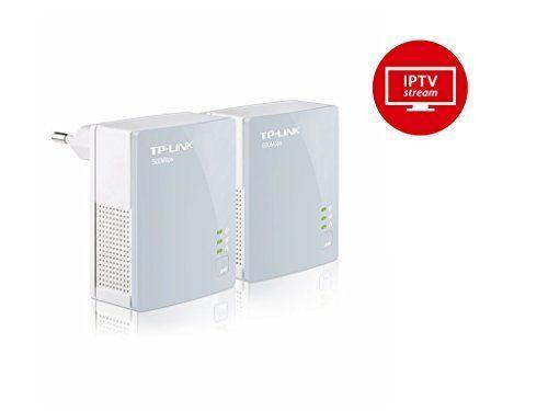TP-Link B-Ware TL-PA411 KIT AV500 Powerline Netzwerkadapter (500Mbit/s, 1 Port, energiesparend, Plug & Play, kompatibel mit Adaptern anderer Marken, 2er Set) weiß