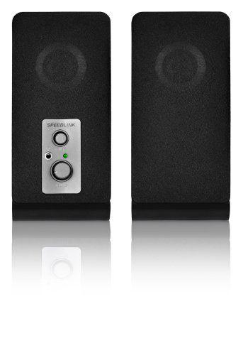 Speedlink (B-WARE) Event Aktiver-Lautsprecher (schlankes Design, stufenloser Lautstärkeregler, 3,5 mm Anschluss, USB Stromversorgung) schwarz 06-07-06, 4027301955156