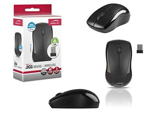 Speedlink (B-WARE) 3-Tasten-Maus - JIGG Mouse kabellosPC / Computer / Laptop / Tablet wireless Mouse schwarz