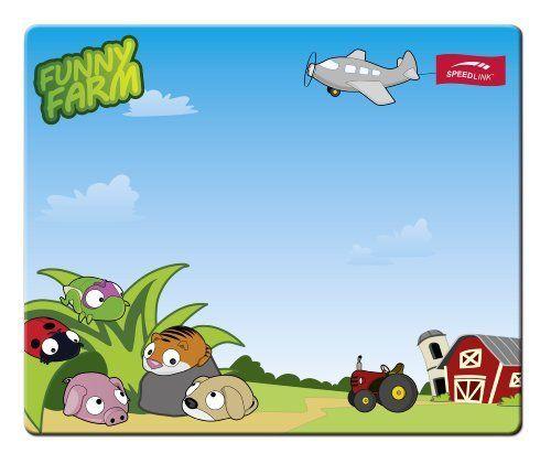 Speedlink (B-WARE) Silk Mauspad lustiger Bauernhof im Comic-Look (weiche Oberfläche, geringer Gleitwiderstand, gummierte Unterseite, verschiedene Motive)
