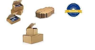 50x Kartons mit Klappdeckel Postkartons Faltkartons Versand Karton 150x100x70 mm Rpt05