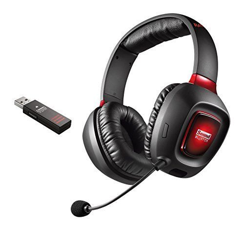 Creative (B-WARE) Sound Blaster Tactic3D Rage Wireless V2.0 Gaming Headset schwarz für PC, Mac und PS4 07-03.04-7711