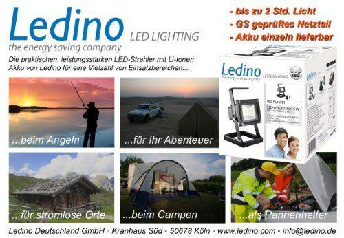Ledino LED-Akkustrahler 5 W Li-Ionen Akku 1,8 Ah LED-FLA0501