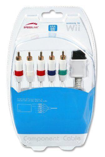 Speedlink (B-WARE) Komponentenkabel Wii/Wii U (fünf Ton- und Bildkabel) weiß