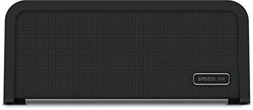 Speedlink (B-WARE) Portajoy - Stereo Bluetooth-Lautsprecher (10 Watt Leistung, Indoor & Outdoor geeignet durch Tragegriff, NFC, bis zu 25 Stunden Akkulaufzeit) schwarz 6-6-4-2424