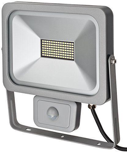 Brennenstuhl Slim LED Strahler außen mit Bewegungsmelder (zur Wandmontage, IP54, LED-Fluter 50W) silber