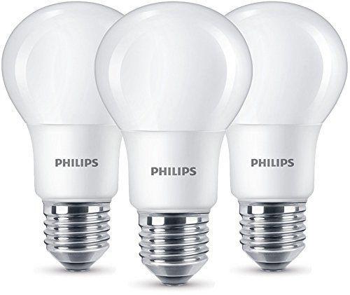Dreierpack Philips LED Lampe ersetzt 60W, EEK A+, E27, warmweiß (2700K), 806 Lumen, matt