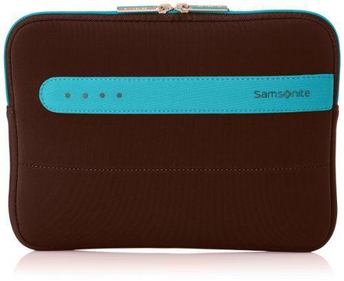 "Samsonite  Colorshield Laptop Sleeve 10.2"",  Uni Taschenorganizer Braun Dark Brown/Turquoise 30 cm"