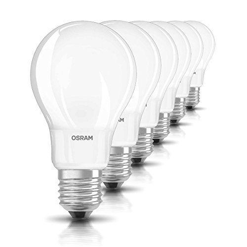 6x Osram LED-Lampe | Sockel E27 |Warm White (2700 K) | ersetzt Glühlampen mit 40 W | 4,00 W | Matt | LED Retrofit CLASSIC A