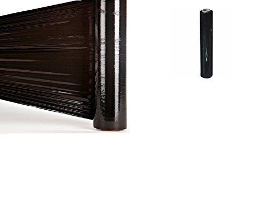 1X Strechfolie Palettenfolie Wickelfolie Stretchfolie 500mm 300m 23my schwarz ca 3,06 kg/Rolle