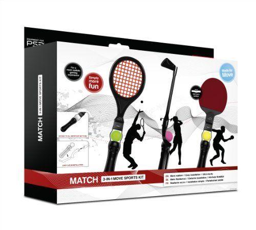 Speedlink (B-WARE) Match 3 in 1 Sportgeräte für den Playstation 3/PS3 Move Motion Controller (Tennis, Tischtennis, Golf)