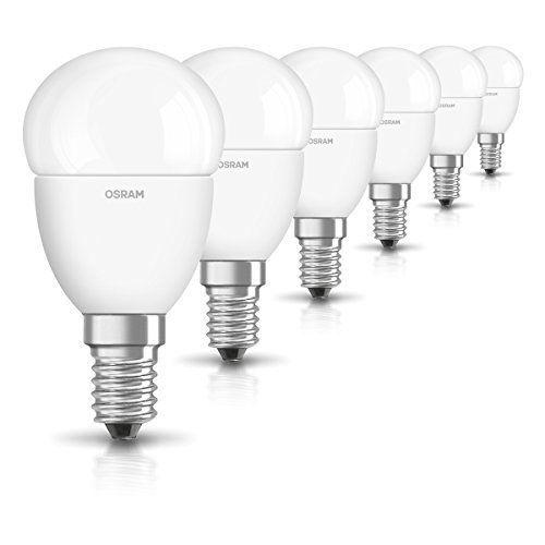6x Osram LED-Lampe | Sockel E14 |Warm White (2700 K) | ersetzt Glühlampen mit 40 W | 5,70 W | Matt | LED STAR R3.F49.1073