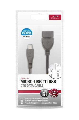 Speedlink (B-WARE) USB-Kabel - Micro-USB to USB OTG Data Cable (USB-Kabel zum Anschluss von USB-Peripheriegeräten - perfekt geeignet für den Anschluss von USB-Speichergeräten - Datentransfer für viele Tablet-PCs und Smartphones) schwarz