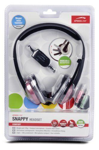 Speedlink (B-WARE) Snappy Kopfhörer mit Mikrofon und Kabelfernbedienung (3,5mm Klinke) rosa