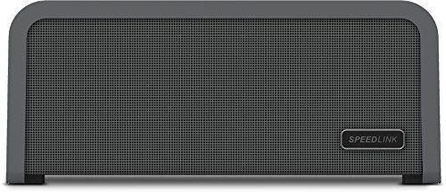 Speedlink (B-WARE) Portajoy - Stereo Bluetooth-Lautsprecher (10 Watt Leistung, Indoor & Outdoor geeignet durch Tragegriff, NFC, bis zu 25 Stunden Akkulaufzeit) grau 02-06.02-4027301437706