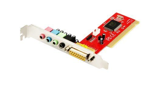 Speedlink (B-WARE) STAGE 4 Channel PCI Sound Card (Soundkarte, 4-Kanalausgabe für 3D Klangeffekte, MIDI-Schnittstelle für zwei Game-Controller) rot