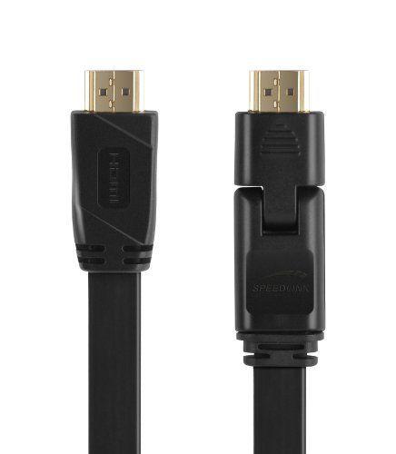 Speedlink Flex-3 HDMI Kabel für PlayStation PS3/PS4 (klappbarer Stecker, unterstützt 4K Auflösung in 3D, 60 Fps, 2160p, HDMI 2.0, Ethernet)