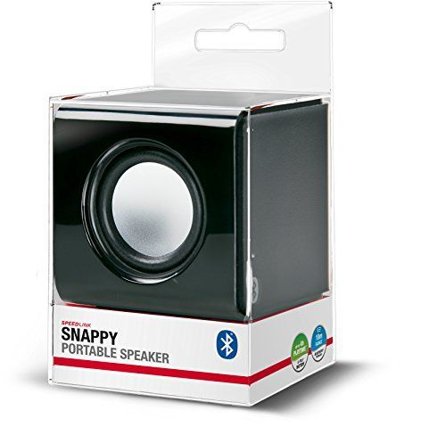 Speedlink (B-WARE) Snappy Aktiver kabelloser Bluetooth-Lautsprecher (3 Watt RMS, 4 Std Akkulaufzeit, kompaktes Format) schwarz