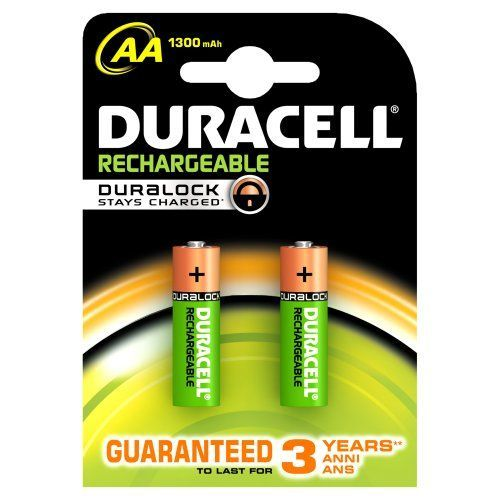 Duracell 2 wiederaufladbare Batterien AA Duracell DURALOCK 2440mah Bulk Ware