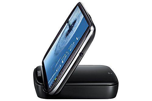 Samsung Original Akkuladestation mit Telefonständerfunktion und Ersatzakku EB-H1G6LLUGSTD (kompatibel mit Galaxy S3 / S3 LTE) in schwarz 8-6-2-9946