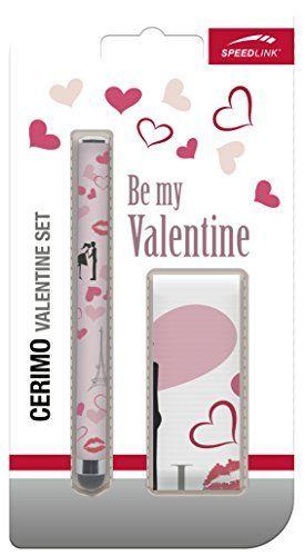 Speedlink (B-WARE) Touchscreen-Set Valentine-Edition - CERIMO Valentine Set (inkl. Hochwertigem Mikrofasertuch - mit Eingabestift für alle kapazitiven Touchscreens) Tablet / Smartphone