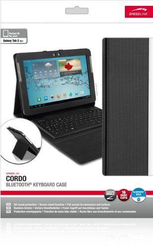 Speedlink Cordo Schutzhülle (geeignet für Samsung Galaxy Tab 2 10.1, mit Bluetooth-Tastatur und Standfunktion, Kamera/Anschlüsse/Tasten frei erreichbar) schwarz