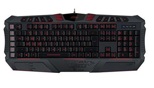 Speed-Link SL-6482-BK-US Parthica Gaming-Tastatur mit USB-Anschluss, Schwarz